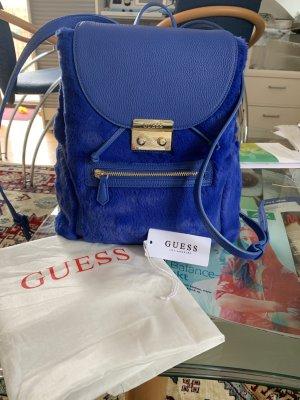 Guess Carrito de mochila azul Imitación de cuero