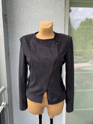 Guess Faux Leather Jacket dark blue