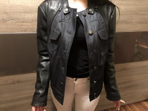 Guess Leather Jacket black leather