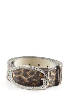 Guess Cintura di pelle crema-marrone Stampa leopardata stile casual