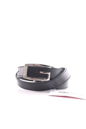 Guess Cintura di pelle nero stile professionale
