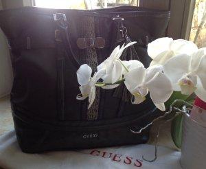 Guess Lederhandtasche in Khakigrün mit Schönheitsfehlern