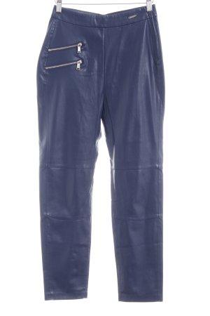 Guess Pantalon en cuir bleu foncé style festif