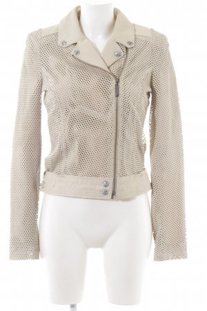 Guess Leather Jacket natural white allover print casual look