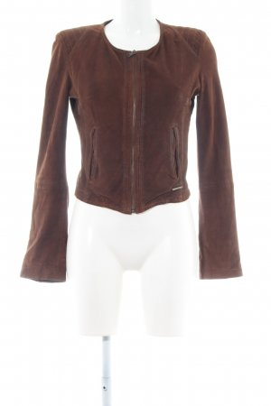 Guess Leather Jacket bronze-colored business style