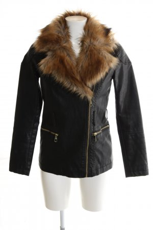 Guess Leather Jacket black casual look