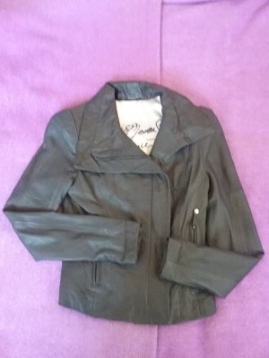 Guess Leather Jacket dark grey