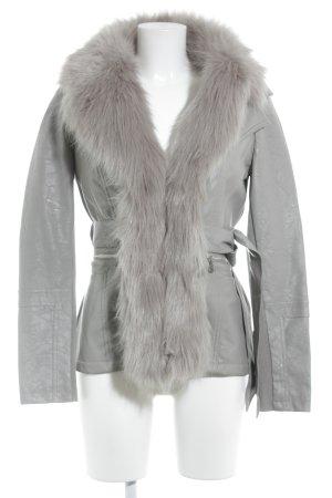 Guess Lederjacke grau Street-Fashion-Look