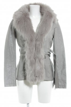 Guess Lederjacke grau Street-Fashion-Look