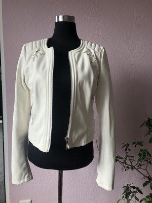 Guess Leather Jacket white