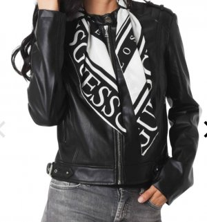 Guess Giacca in pelle nero