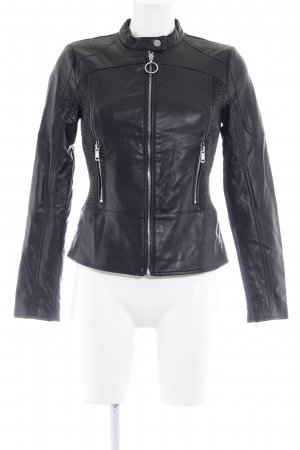 Guess Giacca in pelle nero Stile ciclista