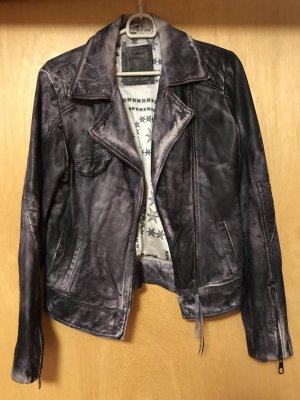 Guess Lederjacke schwarz, Biker Stil
