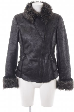 Guess Leather Jacket black street-fashion look