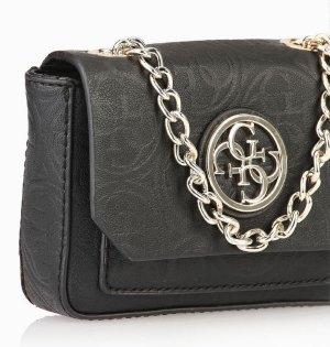 GUESS Leeza Tasche Minitasche Handtasche Gürteltasche Cluch schwarz NEU