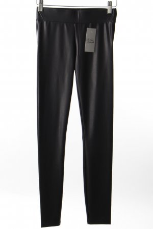 Guess Leggings schwarz Leder-Optik