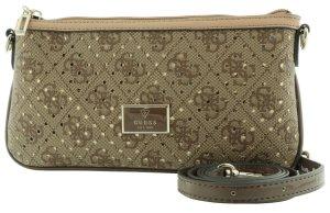 GUESS Logo Remix Damen Mini Clutch Tasche Abendtasche brown braun NEU