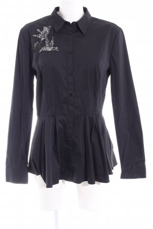 Guess Long-Bluse schwarz Business-Look