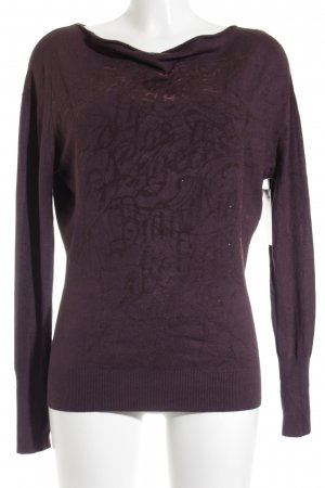 Guess Lange jumper grijs-lila abstract patroon casual uitstraling