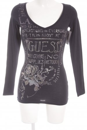 Guess Manga larga azul oscuro look casual