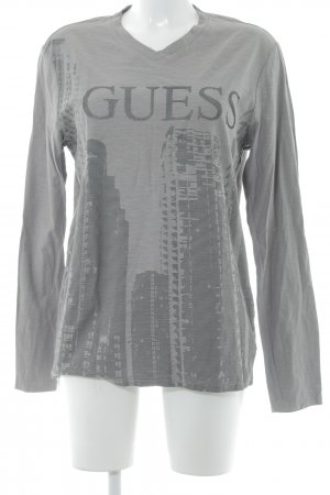 Guess Longsleeve grey printed lettering street-fashion look