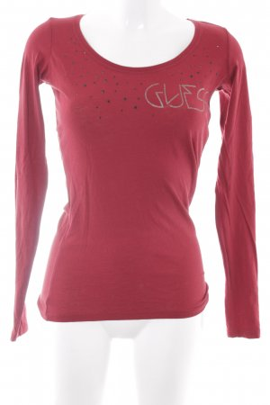 Guess Manica lunga rosso stile casual