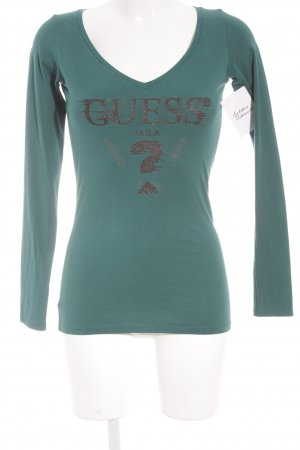 Guess Manga larga verde bosque look casual