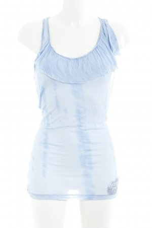 Guess Long Top cornflower blue color gradient casual look