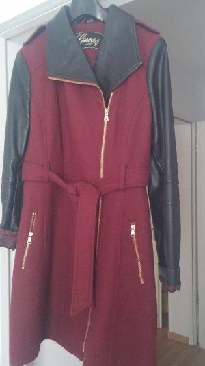 Guess Mantel Longjacke Stoff Lederimitat Gr.44 Original sehr schick