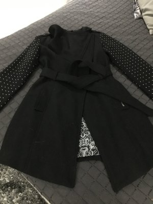 Guess Coat black-silver-colored