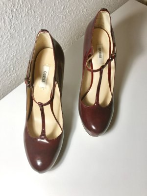 Guess Mary Jane Pumps Gr. 36,5 in Bordeaux rot