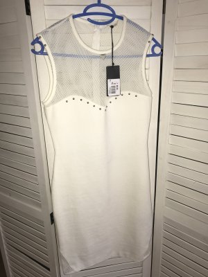 Guess Mini vestido blanco-color plata