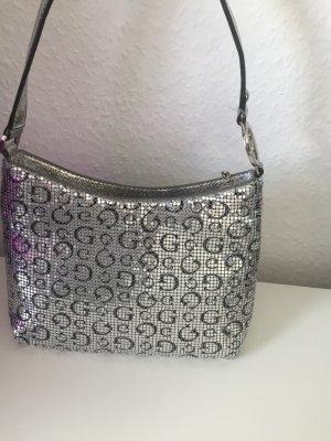 Guess Mini Handtasche silber/ glitzer