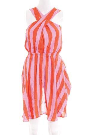 Guess Minikleid orange-rosa Streifenmuster Beach-Look
