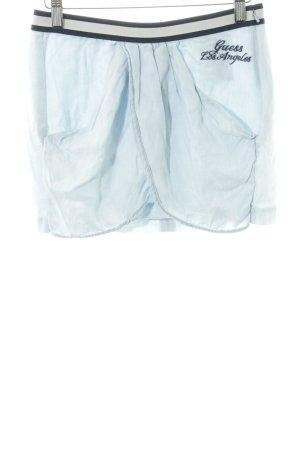Guess Minirock blau Schriftzug gestickt Casual-Look