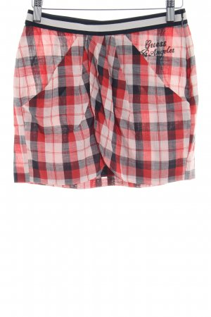 Guess Miniskirt bright red-cream check pattern casual look