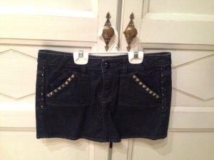 Guess Minirock Jeans Dunkelblau mit Nieten
