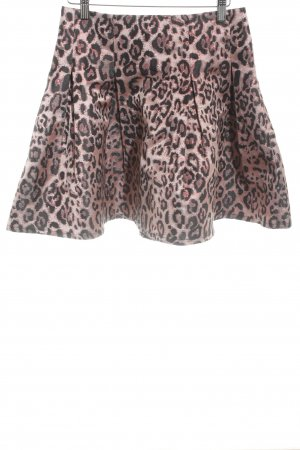 Guess Miniskirt rose-gold-coloured-black leopard pattern extravagant style
