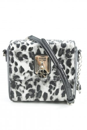 Guess Mini Bag black-natural white leopard pattern wet-look