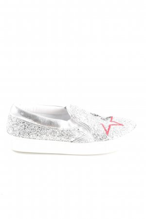 Guess Moccasins silver-colored casual look