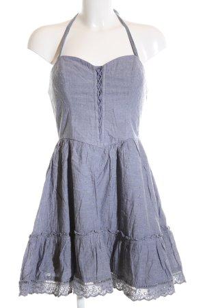 Guess Vestido de cuello Halter azul elegante