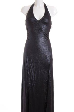 Guess Vestido de cuello Halter negro-azul estilo fiesta