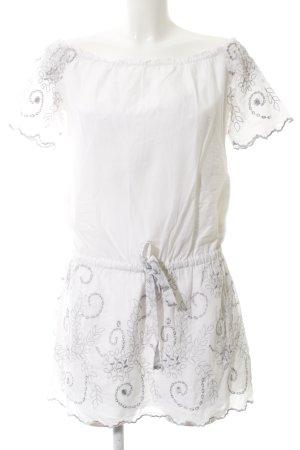 Guess Vestido de cuello Halter blanco estampado con diseño abstracto