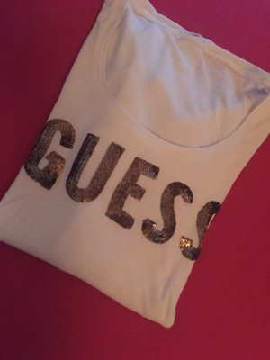 Guess Camisa blanco-color oro