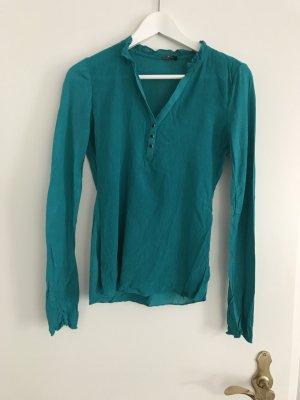 Guess Blusa de túnica azul cadete rayón