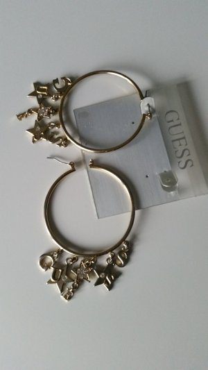 Guess Pendientes tipo aro color oro