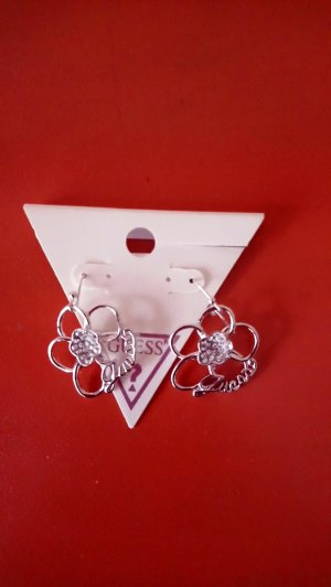 Guess Pendientes colgante color plata metal