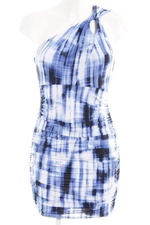 Guess Vestido de un hombro estampado con diseño abstracto elegante