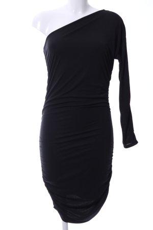 Guess One-Shoulder-Kleid schwarz Elegant