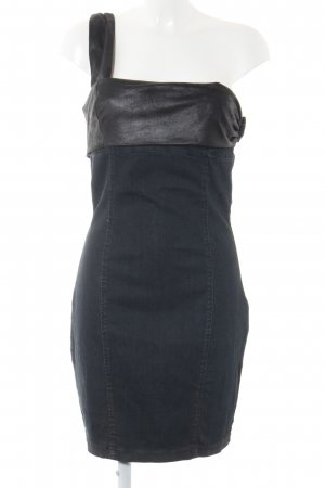 Guess One-Shoulder-Kleid dunkelblau-schwarz Casual-Look
